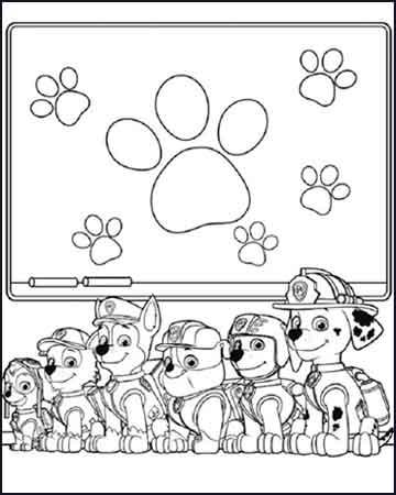 Chase Marshall Rocky Zuma Robble y Skye la patrulla canina - Desenhos para colorir