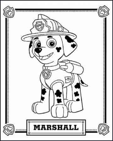 Marshall de la patruya canina 1 - Desenhos para colorir