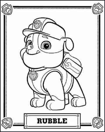 Rubble de la patrulla canina - Desenhos para colorir