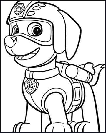 Zuma para colorear la patrulla canina - Desenhos para colorir