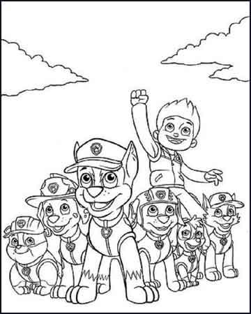 la patrulla canina - Desenhos para colorir