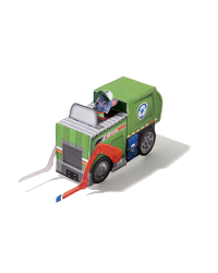 patrulla canina vehiculo rocky - Artesanato