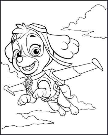 skye planeando la patrulla canina 1 - Desenhos para colorir